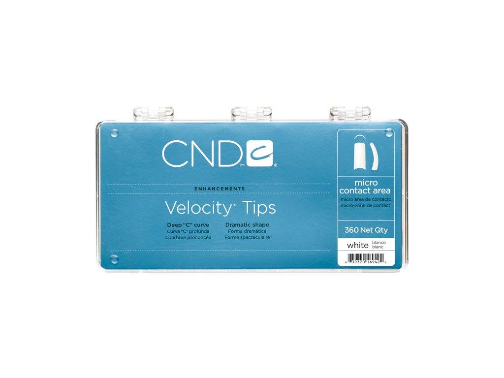 CND Velocity White box 360c,  Tip màu trắng , nền  chữ C độ cong cao , phần dán nhỏ