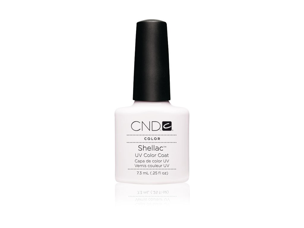 CND SHELLAC™ - UV COLOR - CREAM PUFF bílý na francii, 0.25oz (7,3ml)