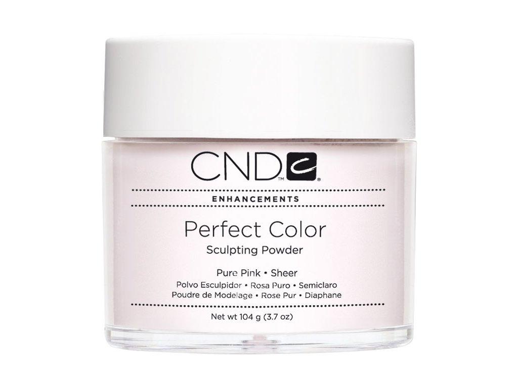 CND PERFECT COLOR, Bột đắp móng - PURE PINK SHEER -  mầu hồng trong , 3.7oz (104g)