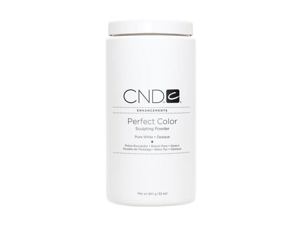 CND PERFECT COLOR, Bột đắp móng - PURE WHITE OPAQUE - , mầu trắng xóa 32oz (907g)
