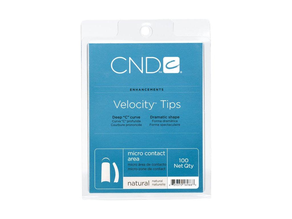 CND VELOCITY NATURAL box 100c,  Tip trong , nền  chữ C độ cong cao , phần dán nhỏ