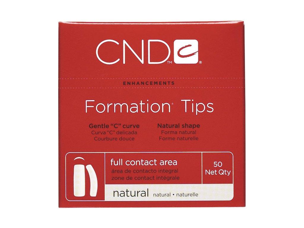 CND D - FORMATION NATURAL kích thước. 6, 50c, Móng tip giả , nến chữ C tự nhiên, phần dán lớn
