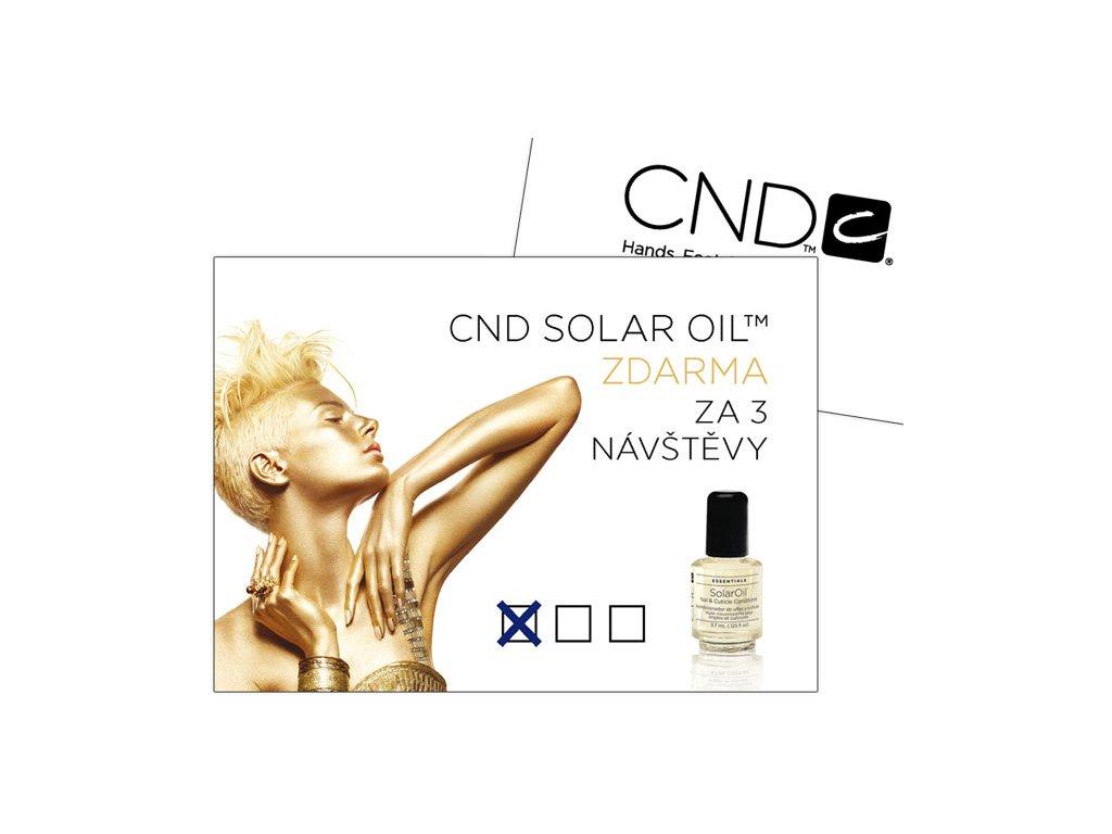 CND D - CND Cạc khuyến khích SolarOil, gói 24c, kt. 10,5x7,5cm