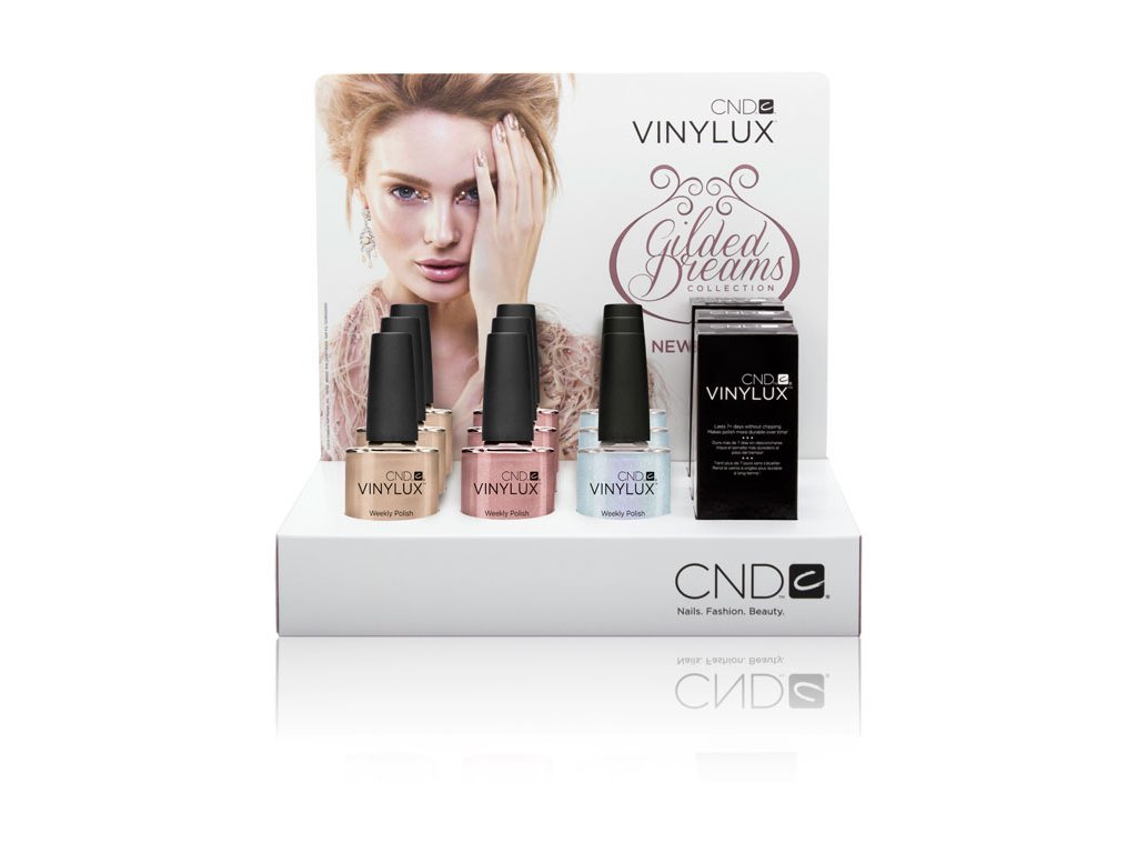 CND POP kệ trưng bầy VINYLUX GILDED DREAMS - bộ sưu tập - 12c. lọ x  0.5oz (15ml)