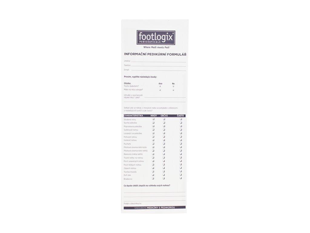Footlogix Footlogix Biểu mẫu thông tin chăm sóc chân ( cho khách hàng) - 25 tờ