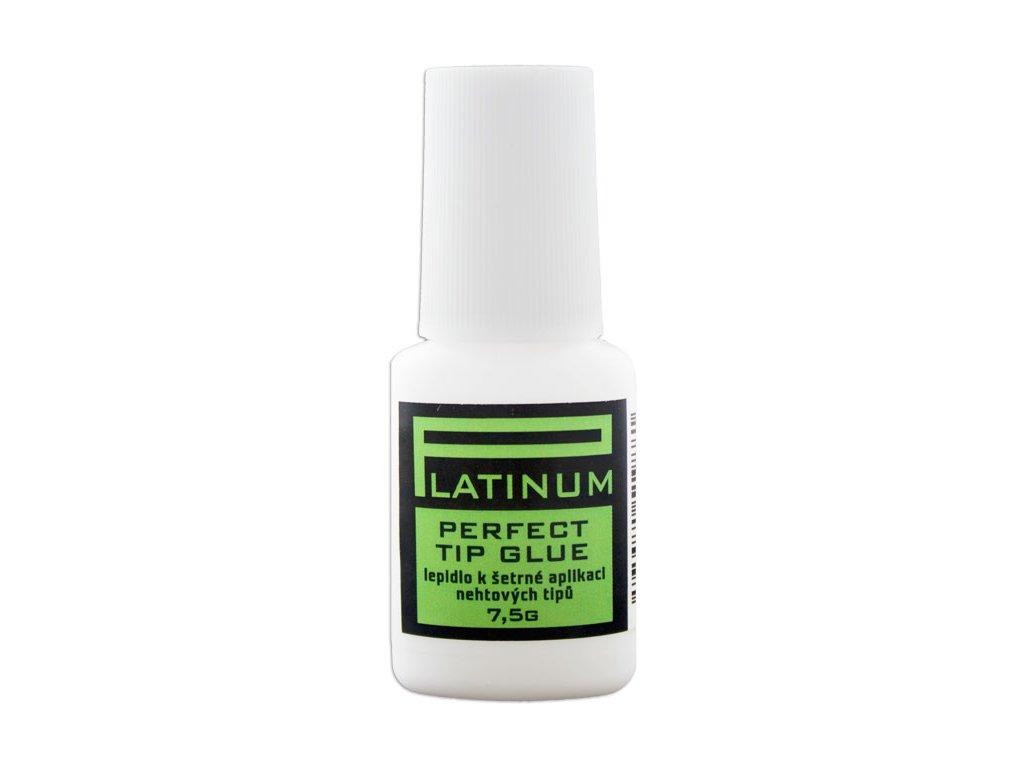 Platinum PERFECT TIP GLUE - hồ dán móng tip có bàn chải  áp dụng nhẹ nhàng không màu, 7,5g