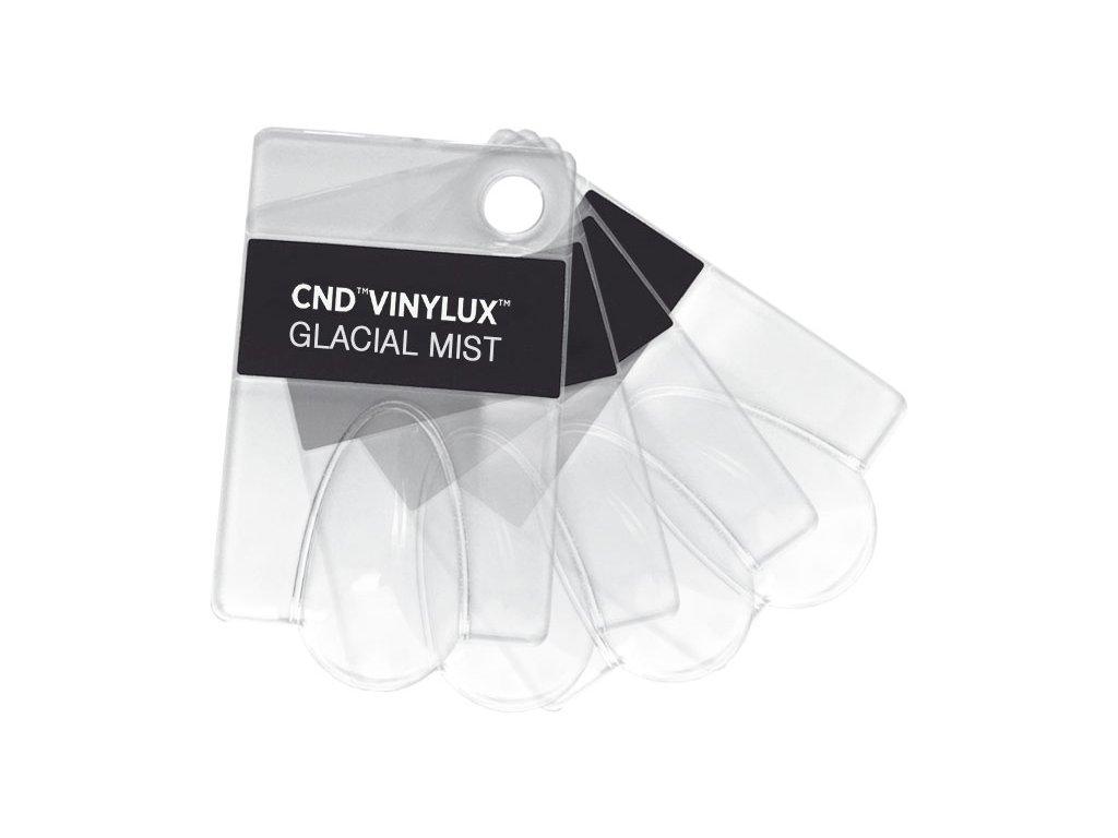 CND  BỘ MẪU MÓNG - bổ sung - CND VINYLUX - 4c Tip không màu với tên của bộ sưu tập AURORA