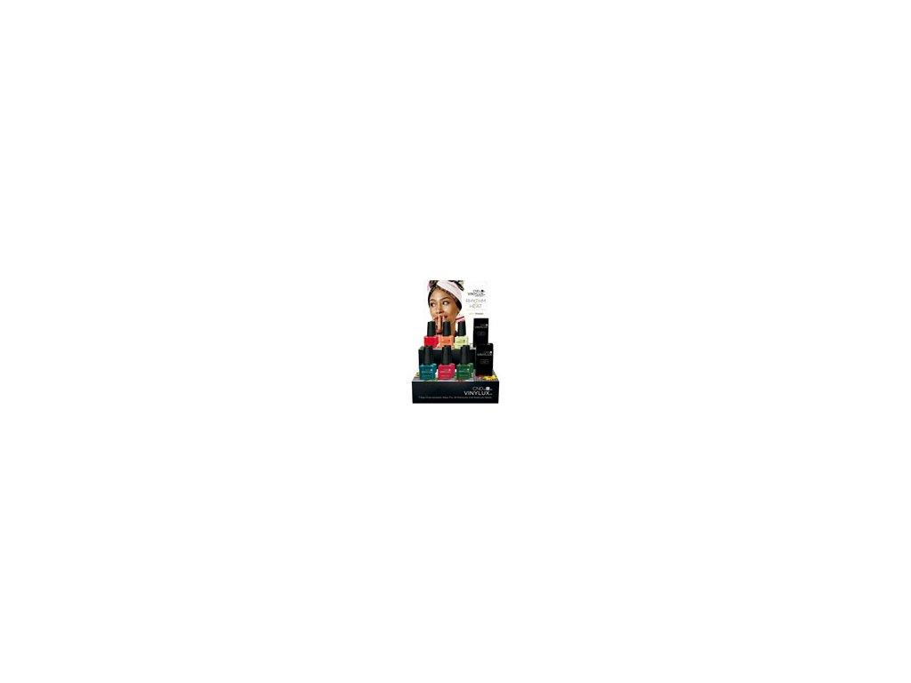 CND POP kệ trưng bầy VINYLUX™ RHYTHM HEAT - Bộ sưu tập HÈ 2017 - 14c lọ x  0.5oz (15ml)