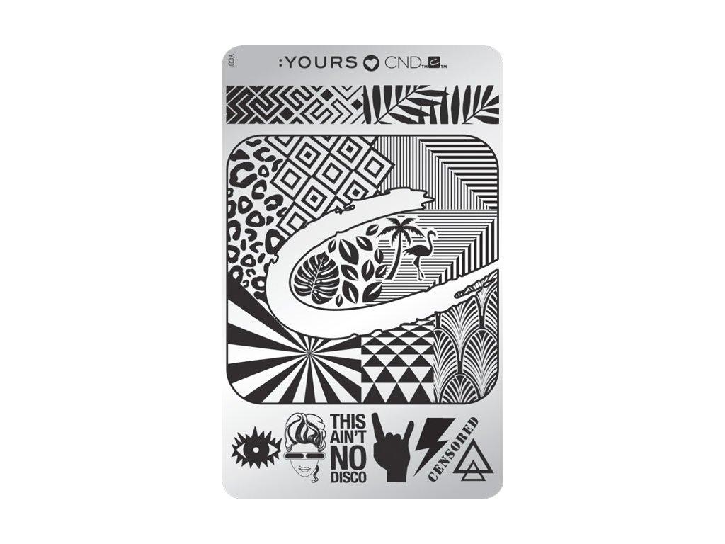 CND D - CND STAMP YOURS LOVES - Bộ khuôn mẫu in trang chí FW 17, design độc đáo
