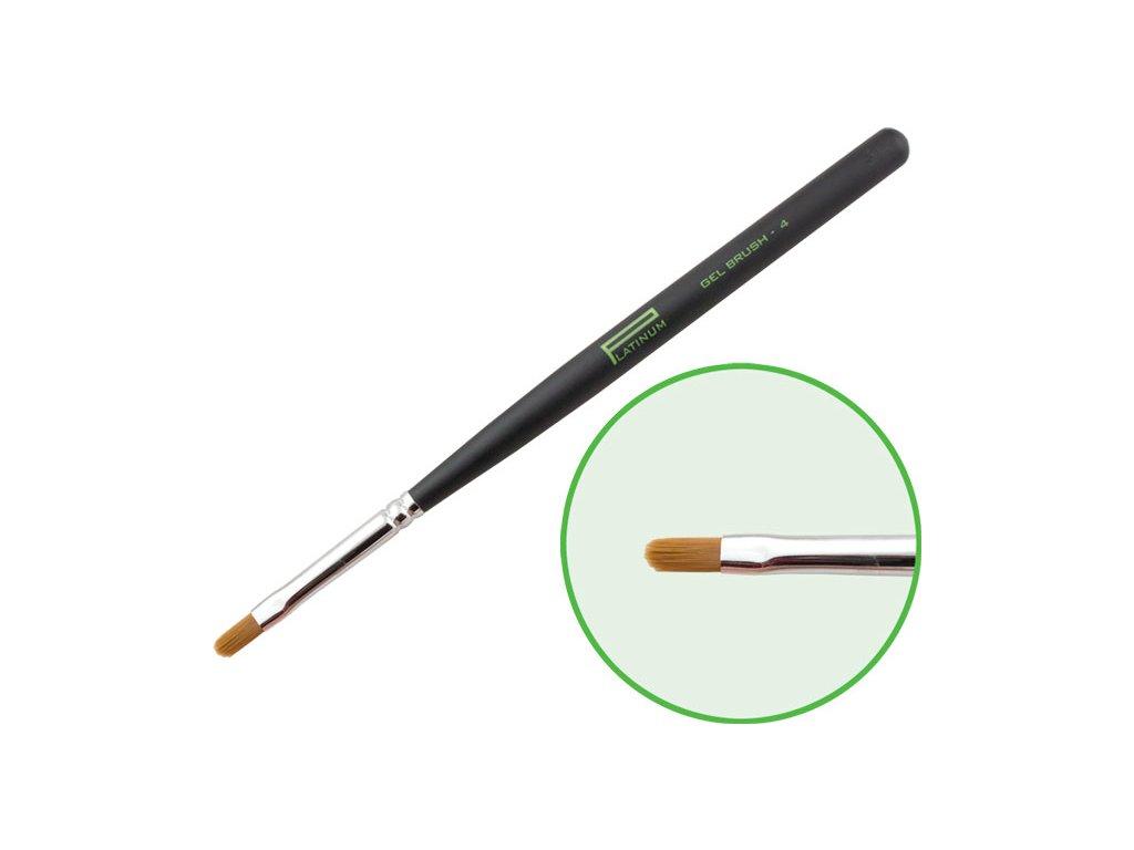 Platinum Professional Nail Brush - GEL - cọ sơn gel dẹp, N.4