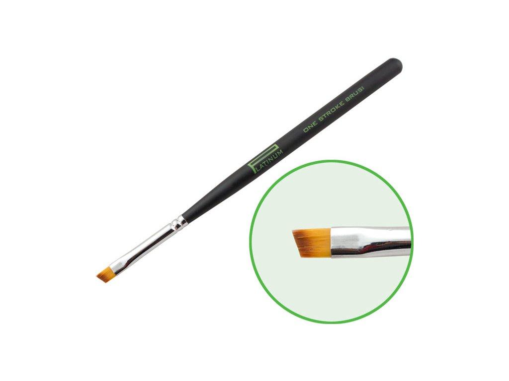 Platinum Professional Nail Brush - ONE STROKE - cọ sơn gel dẹp đầu chéo