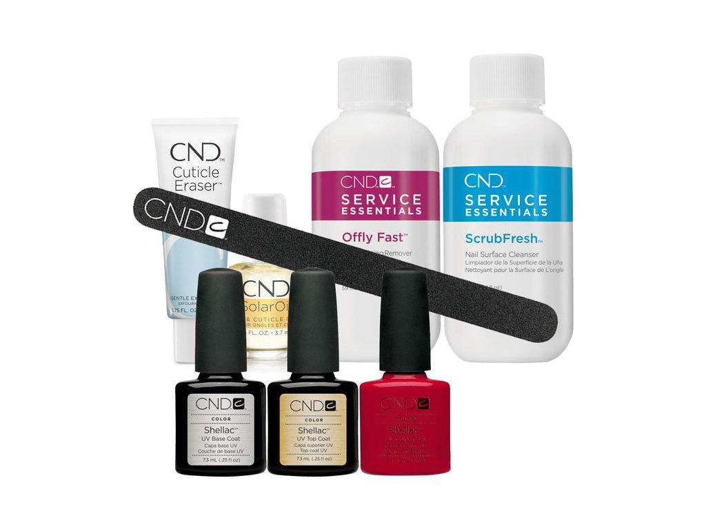 CND SHELLAC™ - starter kit I - 3ks SHELLAC™; 3c dung dịch hỗ trợ, dũa, Dầu