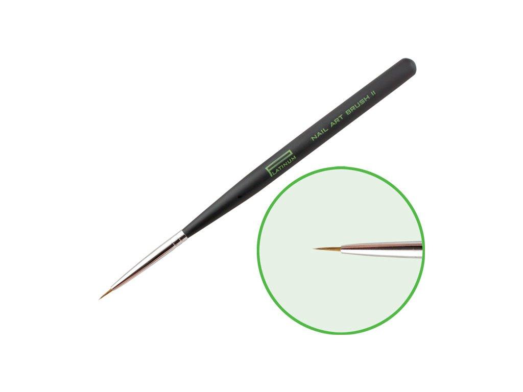 Platinum Professional Nail Brush - NAIL ART II - cọ lông chồn Kolinsky đầu rất  nhỏ để trang trí móng