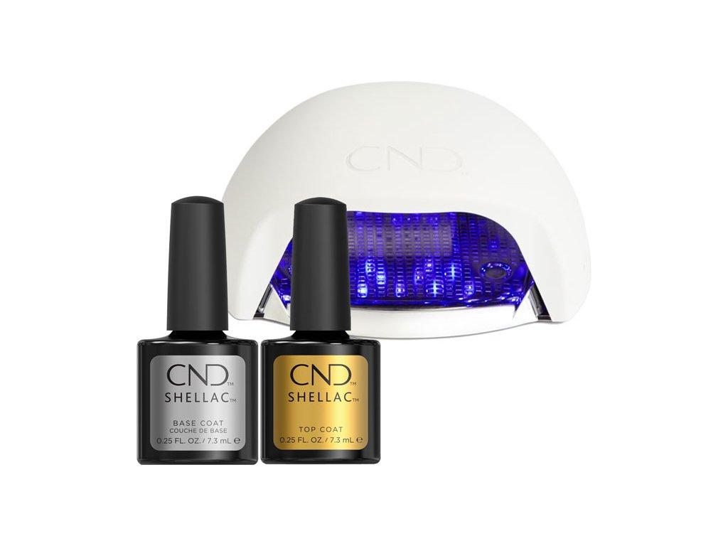 CND CND SHELLAC START (BASE COAT+ORIGINAL TOP COAT+CND NEW LED LAMP)