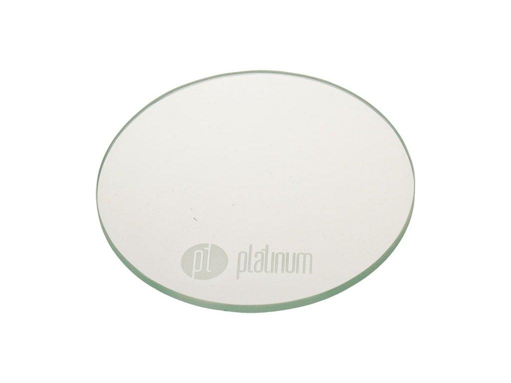 Platinum PROFESSIONAL GLASS PALETTE - NAIL ART bảng pha màu thủy tinh có mài biểu trưng PLATINUM để ph