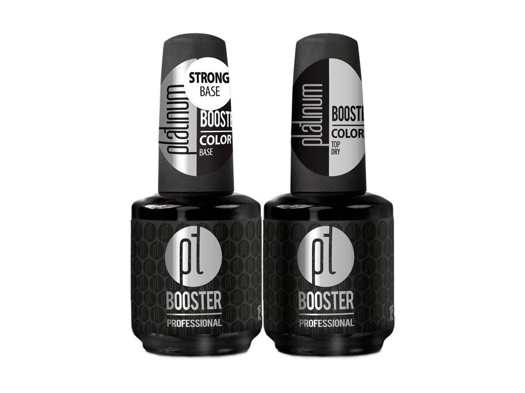 Platinum SADA LED-tech BOOSTER COLOR 2x15ml – STRONG Base a DRY MATT Top