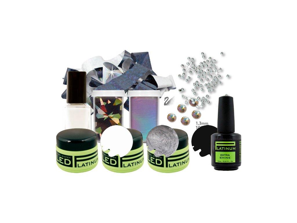Platinum PLATINUM NAIL ART KIT III - bộ trang trí móng - BLACK AND WHITE