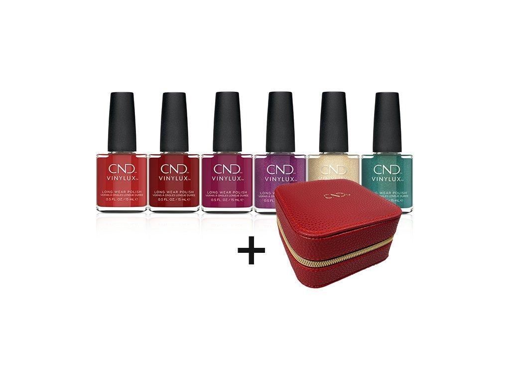 CND CND™ VINYLUX™ Cocktail Couture - bộ sưu tập MÙA ĐÔNG 6c Vinylux + CND™ hộp da để tràg sức