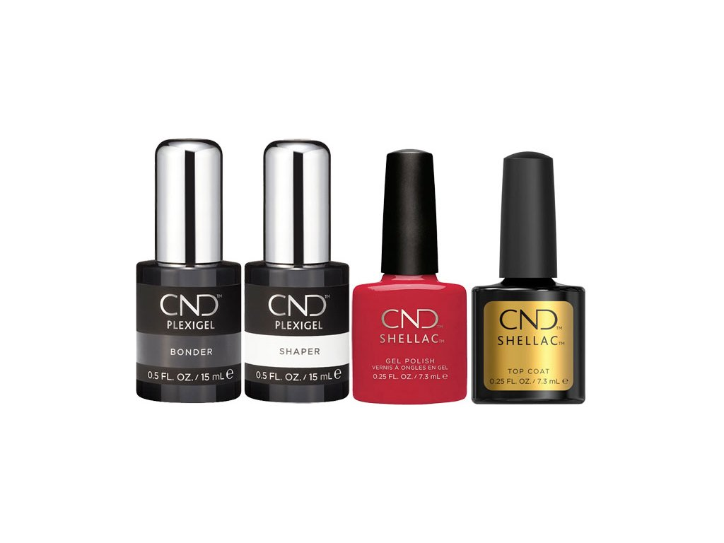 CND CND™ PLEXIGEL - BỘ 2x CND™ PLEXIGEL (15ml) + 2x CND™SHELLAC (7.3ml) CÓ THỂ TƯƠNG HỢP VỚI NHAU