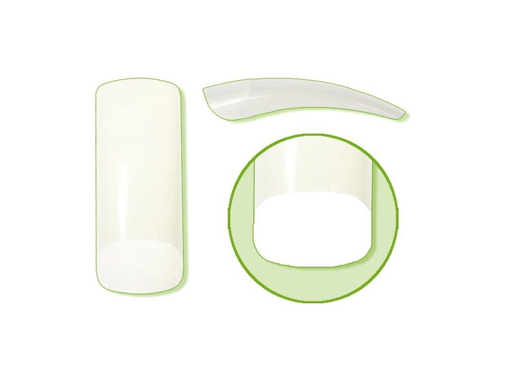 Platinum Nail tips PERFECT SQUARE - móng tip thẳng, phần dán lớn - NATURAL N. 8 50c