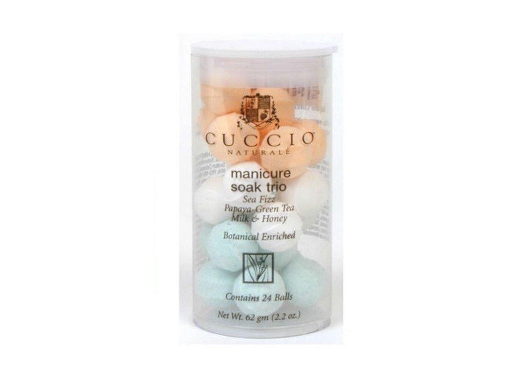 CUCCIO D - Trio Manicure Soak 24 Balls - Viên sủi khử trung - tinh chất  Trio 24c