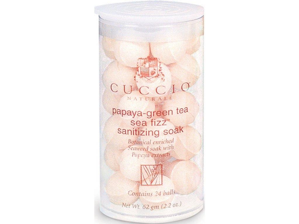 CUCCIO D - Papaya and Green Tea Manicure Soak 24 Balls - Viên sủi khử trung - tinh chất  đu đủ và trà xanh 24c