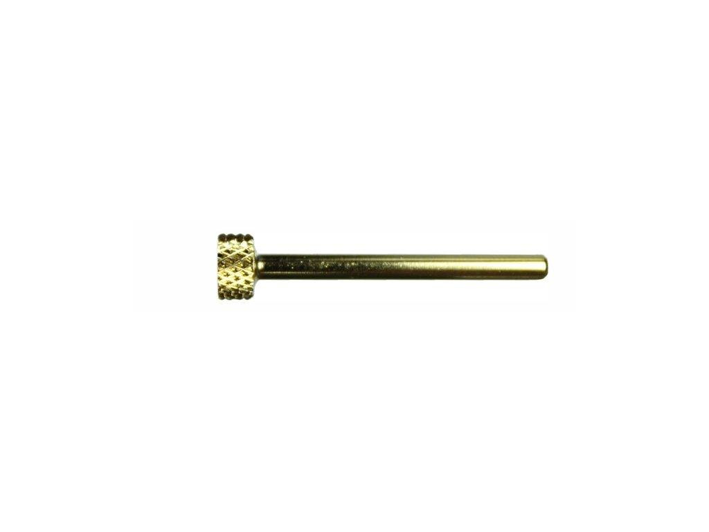 EBD Đầu mài titan, mạ vàng - hình trụ ngắn (C-12) (đầu mài đường kính 2.35mm)