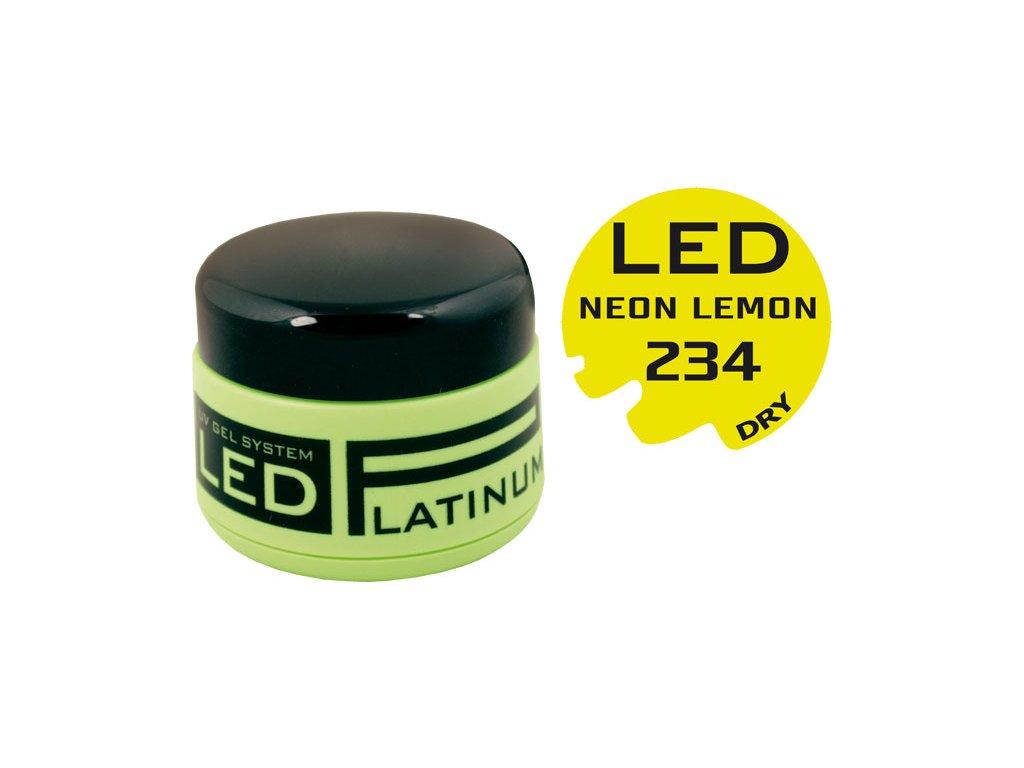 Platinum PLATINUM DRY LED - gel màu không chùi - NEON LEMON, 9g (234) - phù hợp cho cả Nail Art