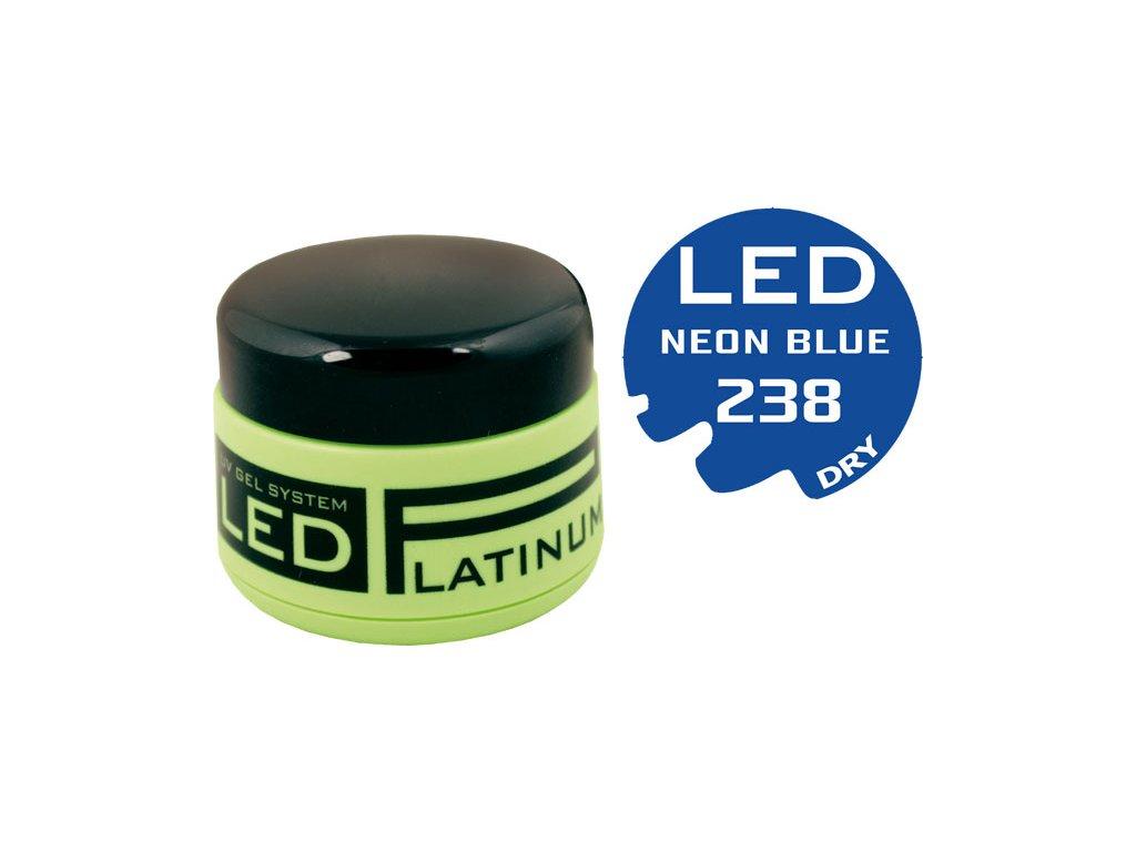 Platinum PLATINUM DRY LED - gel màu không chùi - NEON LIGHT BLUE, 9g (238) - phù hợp cho cả Nail Art