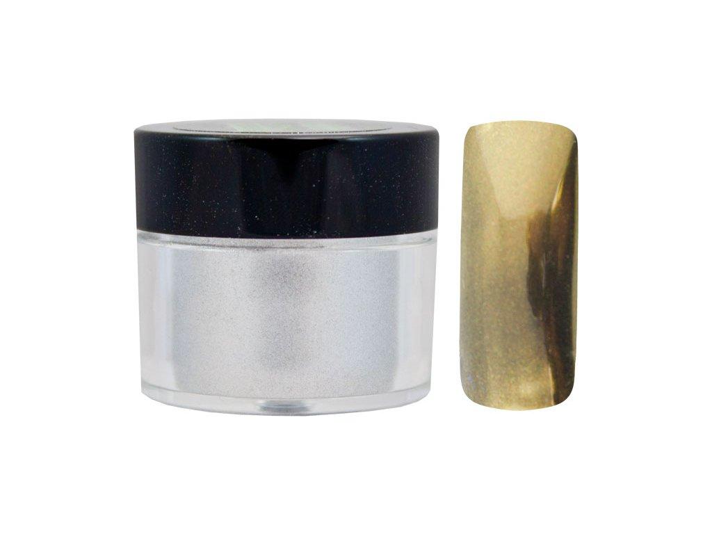 Platinum MIRROR EFFECT PIGMENT - bột làm bóng gel với hiệu ứng gương - GOLD - 7ml (01)
