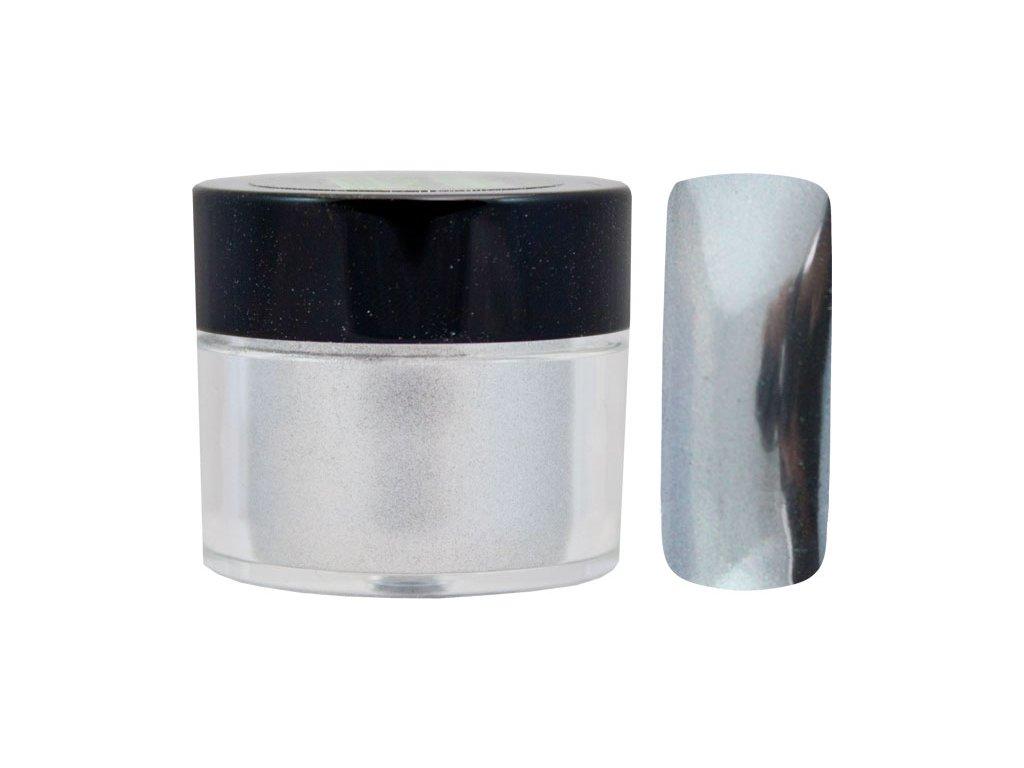 Platinum MIRROR EFFECT PIGMENT - bột làm bóng gel với hiệu ứng gương - SILVER - 7ml (02)