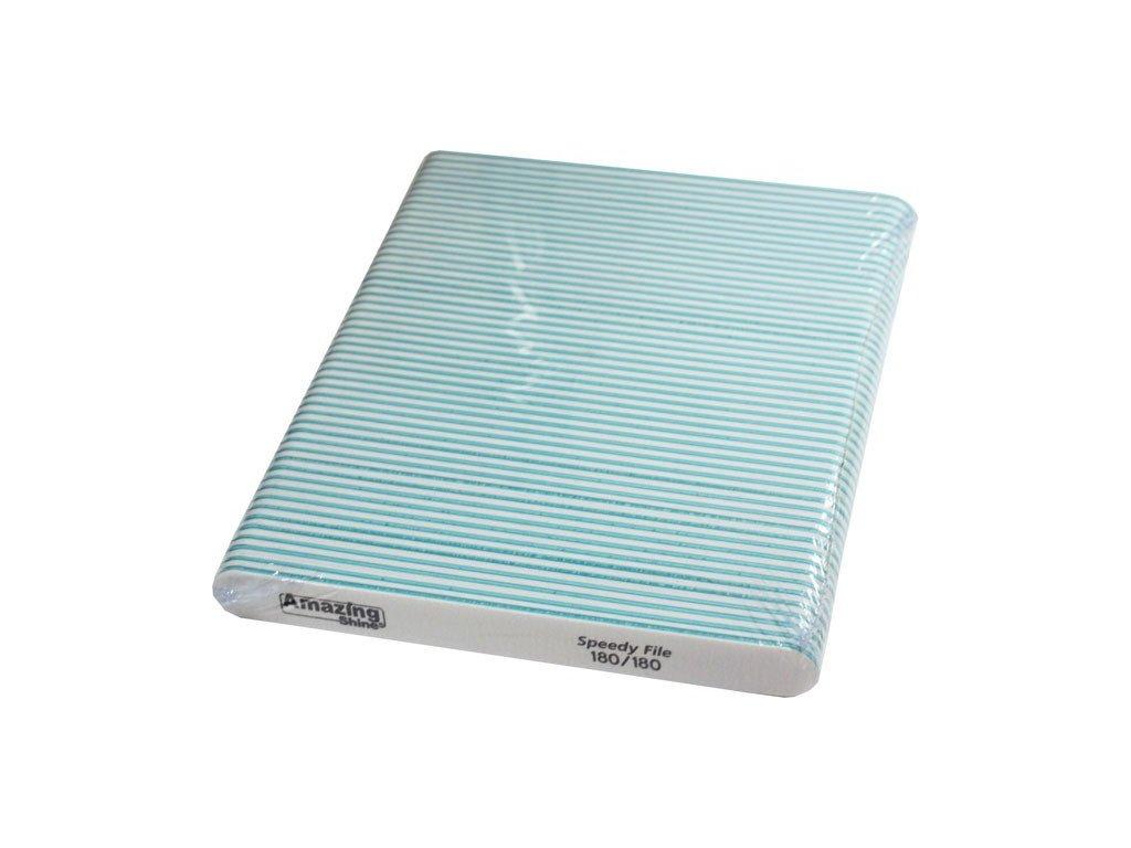 Amazing Shine Dũa chuyên nghiêp SPEEDY 180/180 màu trắng (ở điểm giữa màu xanh lá) 50c