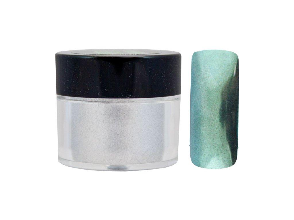 Platinum MIRROR EFFECT PIGMENT - bột làm bóng gel với hiệu ứng gương - GREEN - 7ml (06)