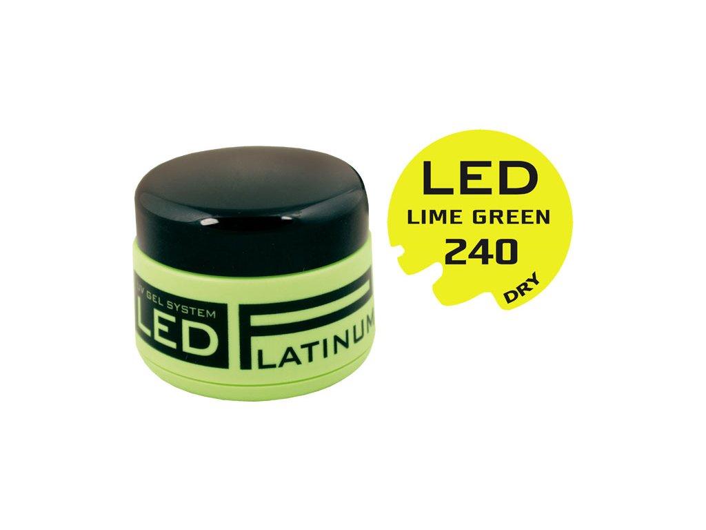 Platinum PLATINUM DRY LED - gel màu không chùi - LIME GREEN, 9g (240) -  phù hợp cho cả Nail Art