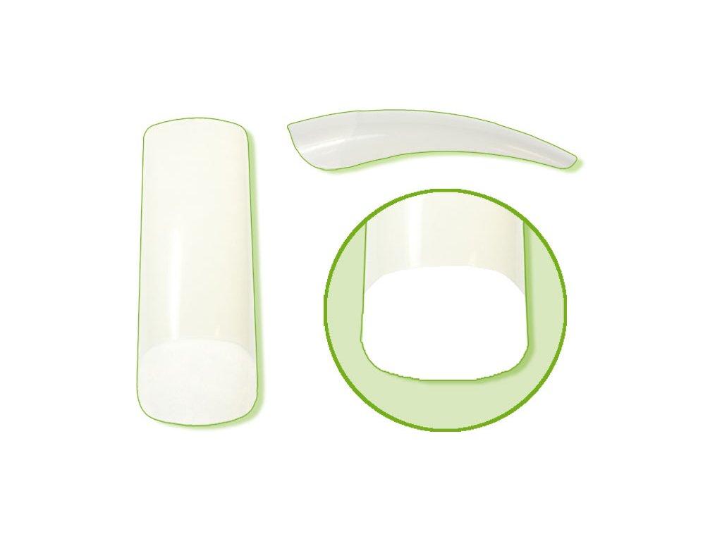 Platinum Nail tips PERFECT LINEAR - móng tip thẳng đầu thon, phần dán lớn - NATURAL N.1 50c