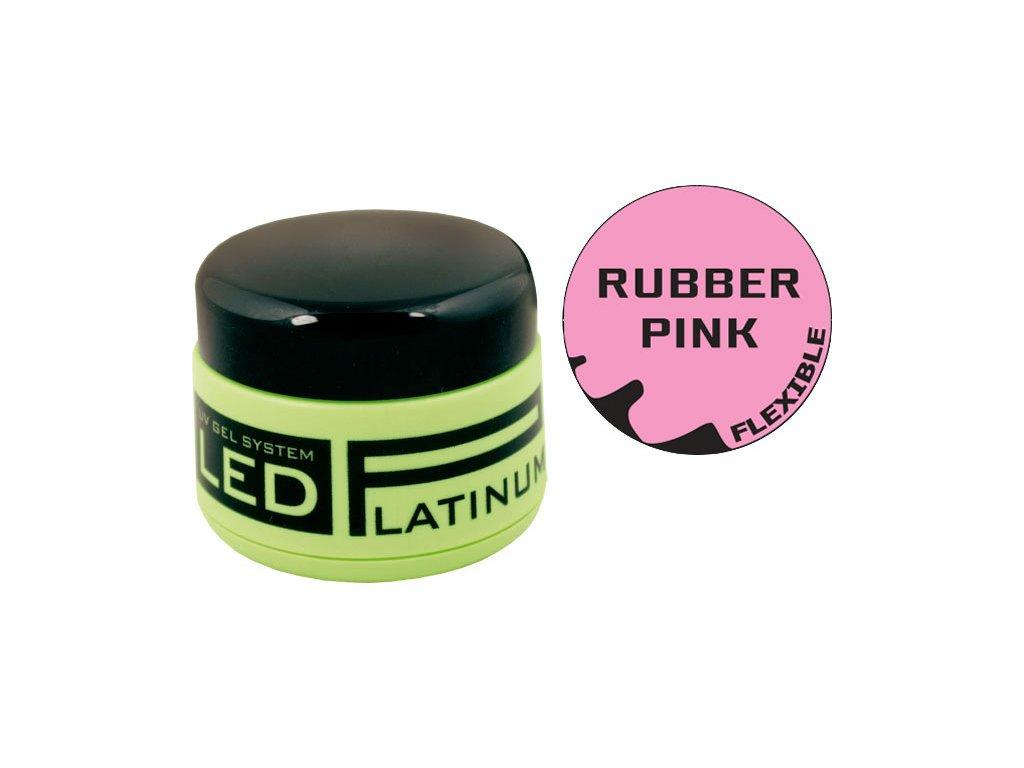 Platinum PLATINUM LED - gel đắp màu hồng sáng  - RUBBER IQ PINK, 40g (30 giây LED/120 giây UV)