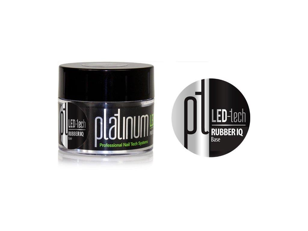 Platinum PLATINUM LED-tech RUBBER IQ Base, 40g - Gel nền không màu rất đàn hồi (30 giây LED/120 giây UV)