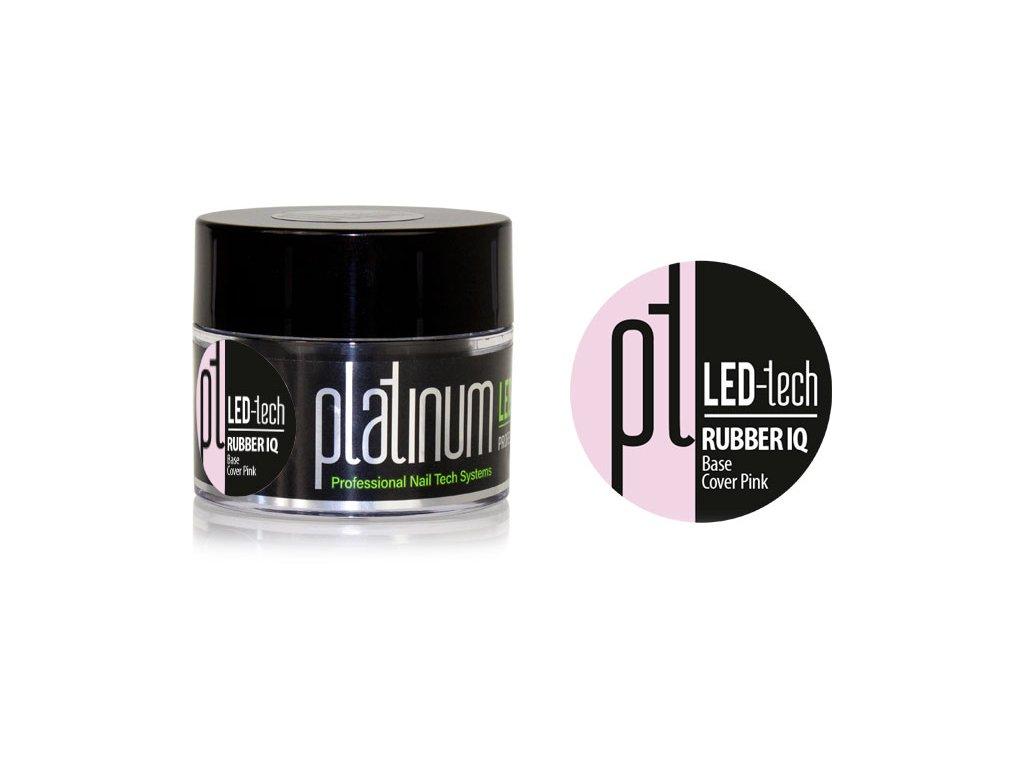 Platinum PLATINUM LED-tech RUBBER IQ Base Cover Pink, 40g - Gel nền ngụy trang rất đàn hồi (30 giây LED