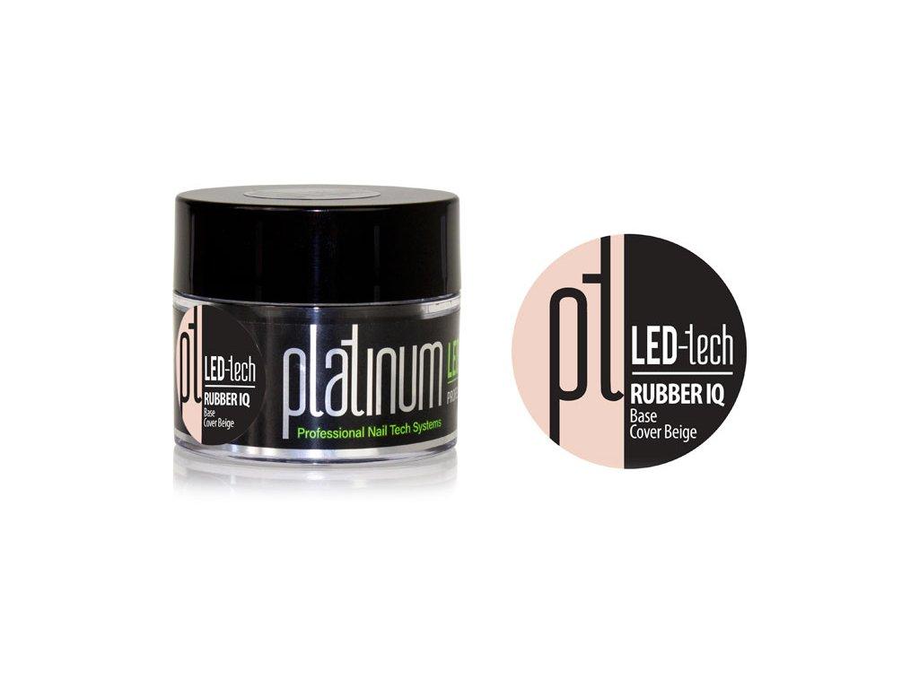 Platinum PLATINUM LED-tech RUBBER IQ Base Cover Beige, 40g - Gel nền ngụy trang rất đàn hồi