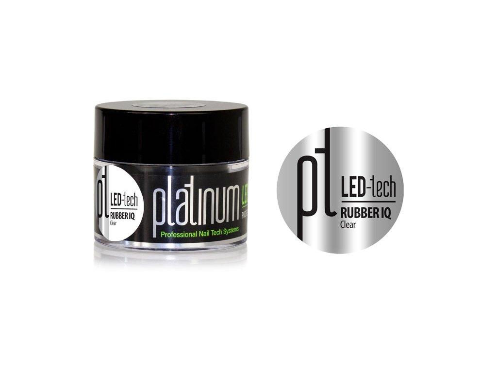 Platinum PLATINUM LED-tech RUBBER IQ Clear, 40g  - Gel đắp không màu rất đàn hồi (30 giây LED/120 giây U