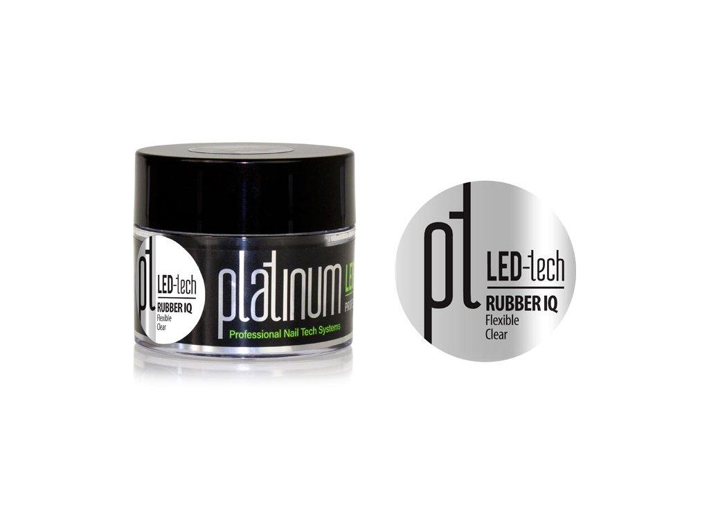 Platinum PLATINUM LED-tech RUBBER IQ Flexible Clear, 40g  - Gel đắp không màu rất đàn hồi (30sec LED/120