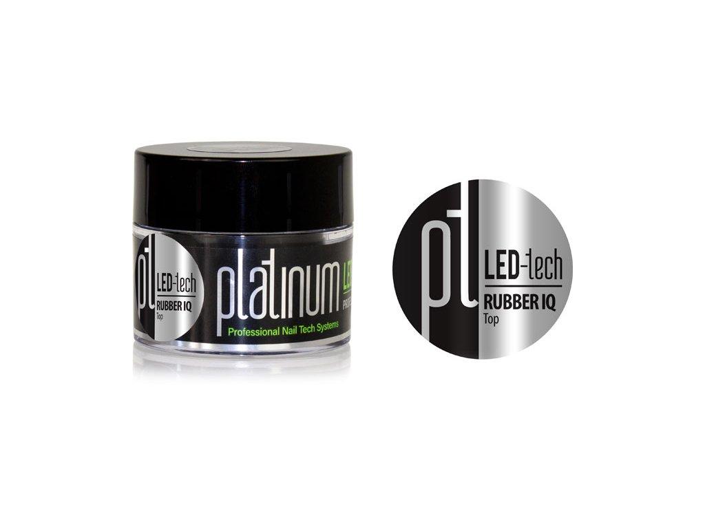 Platinum PLATINUM LED-tech RUBBER IQ Top, 40g - Gel phủ, màu trong rất đàn hồi (2x30 giây LED/2x120 giây UV)