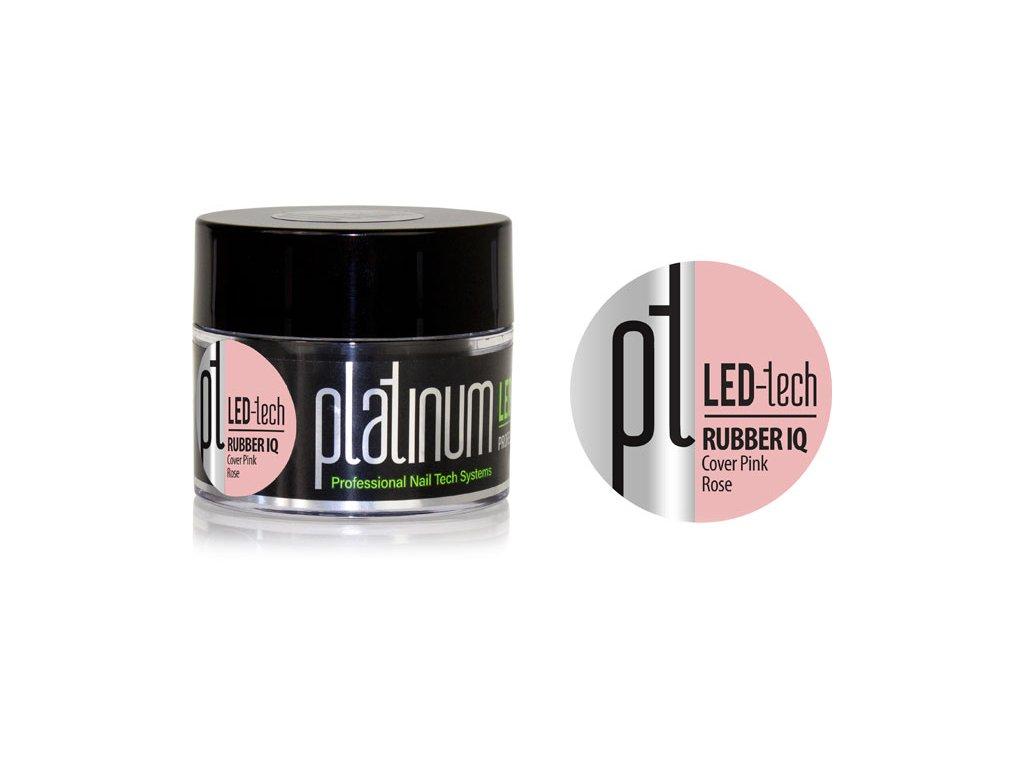 Platinum PLATINUM LED-tech RUBBER IQ Cover Pink Rose, 40g - Gel đắp ngụy trang rất đàn hồi (30sec LED/1