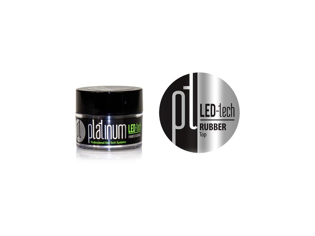 Platinum PLATINUM LED-tech RUBBER Top, 9g - gel phủ đàn hồi không màu (2x30 giây LED/2x120 giây UV)