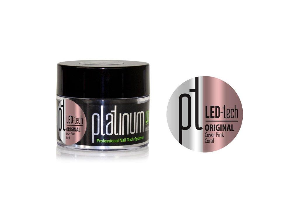 Platinum PLATINUM LED-tech ORIGINAL Cover Pink Coral, 40g - Gel đắp ngụy trang (30 giây LED/120 giây UV)
