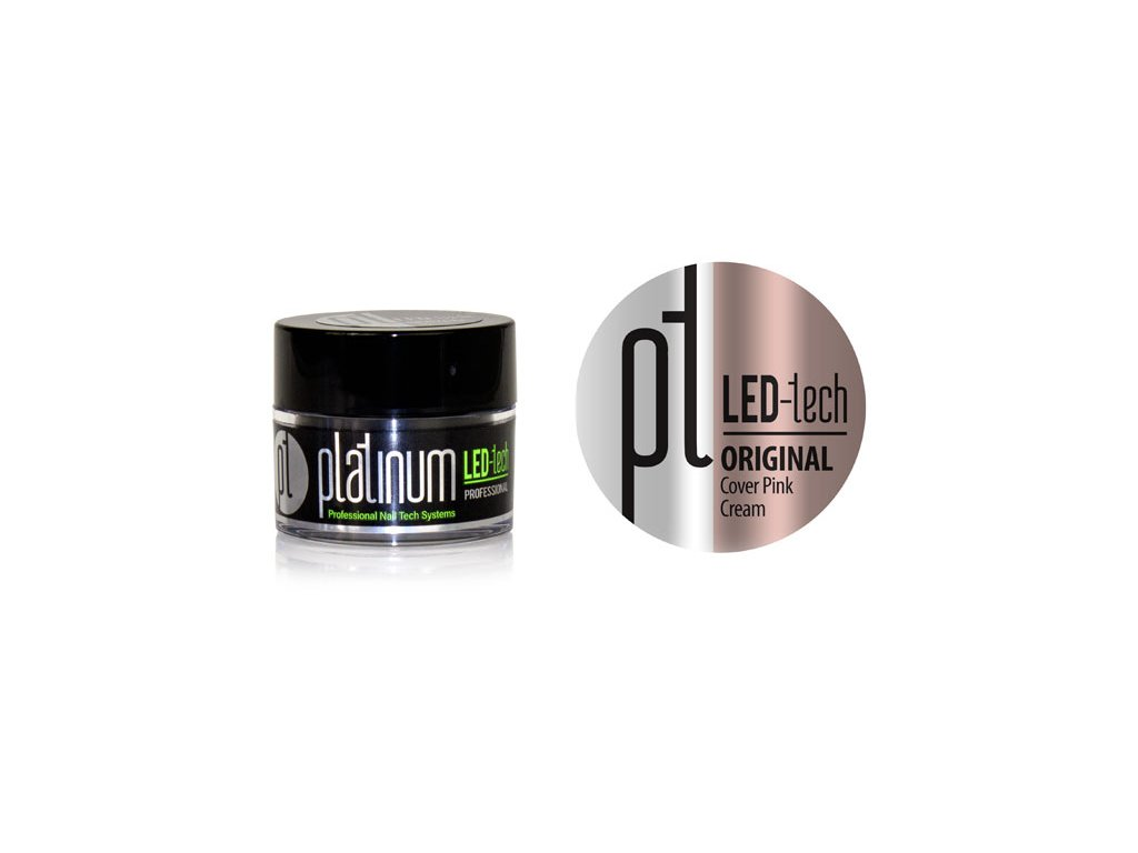 Platinum PLATINUM LED-tech ORIGINAL Cover Pink Cream, 9g - gel đắp ngụy trang (30 giây LED/120 giây UV)