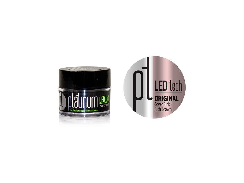 Platinum PLATINUM LED-tech ORIGINAL Cover Pink Rich Brown, 9g - Gel đắp ngụy trang (30 giây LED/120 giây UV