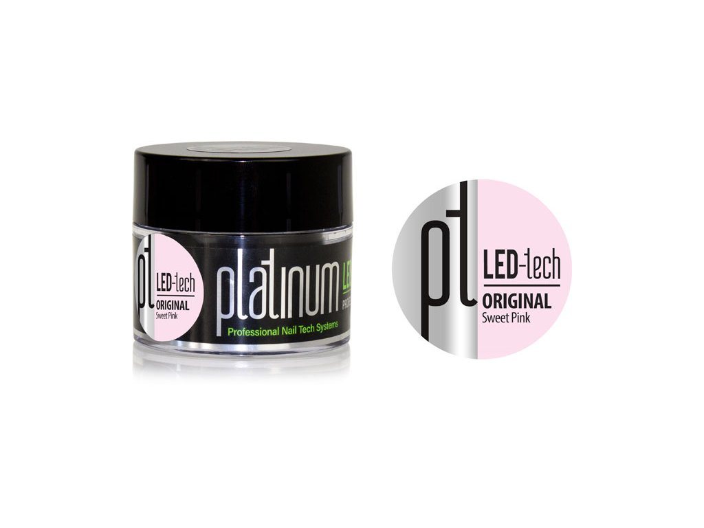 Platinum PLATINUM LED-tech ORIGINAL Sweet Pink, 40g - Gel đắp màu hồng nhạt (30 giây LED/120 giây UV)