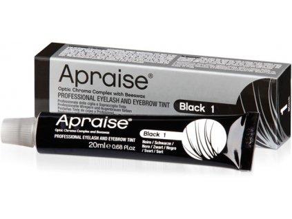 APRAISE Màu nhuộm chuyên nghiệp dành cho lông mi và lông mày - đen BLACK 1, 20 ml (Optic Chroma Complex 8+ Weec)