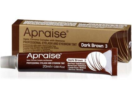 APRAISE Màu nhuộm chuyên nghiệp dành cho lông mi và lông mày - màu nâu sẫm DARK BROWN 3, 20 ml (Optic Chroma Complex 8+ Weeks